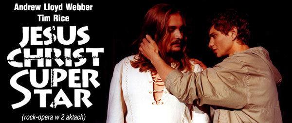 Grafika promująca spektakl Jesus Christ Superstar w Teatrze Rozrywki (źródło: www.januszradek.pl)